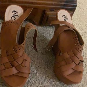 Tan Rue 21 Wedges size 6/7